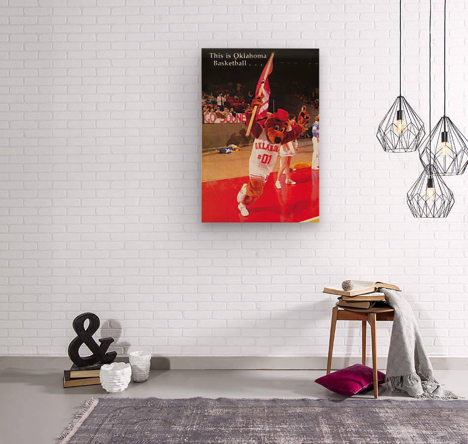 billy tubbs era top daug oklahoma sooners basketball poster prints on wood  Wood print