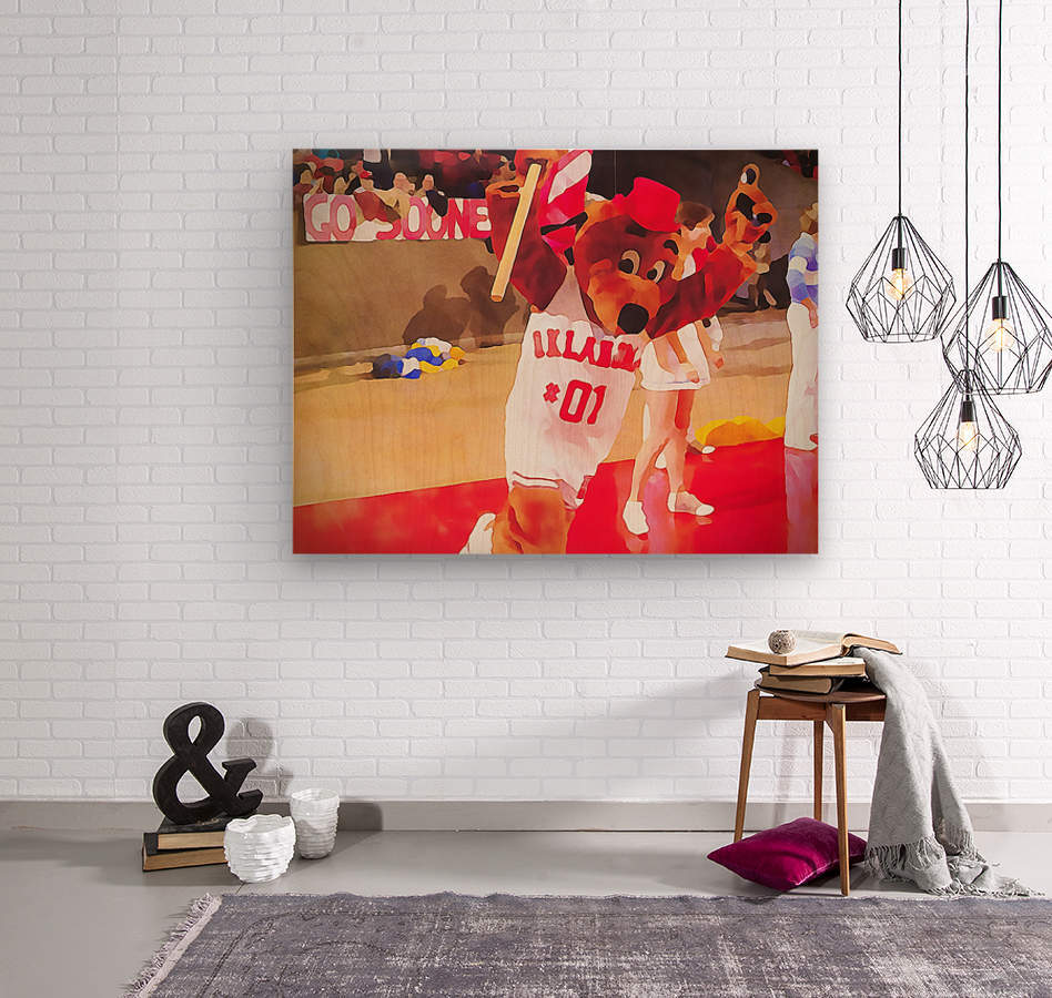 college mascot art top daug oklahoma sooners basketball art  Wood print