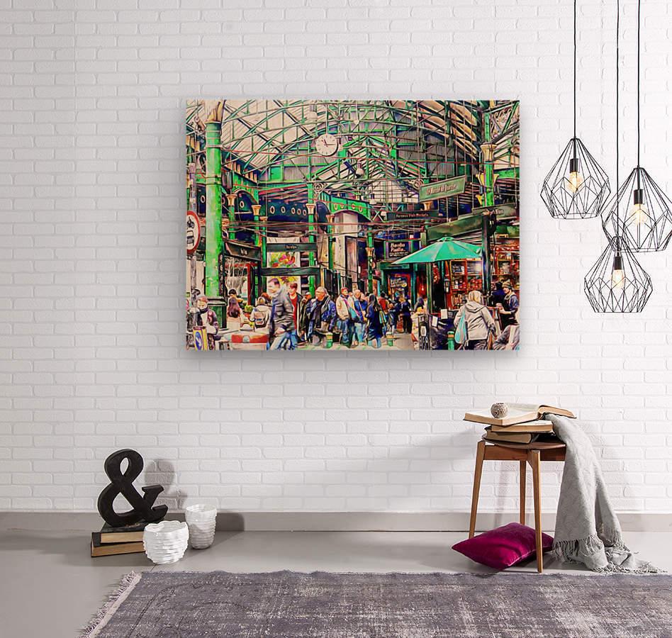 Borough Market London  Wood print
