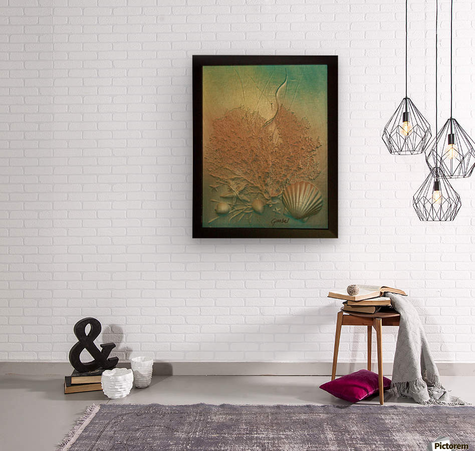 Coral Image Art  Wood print