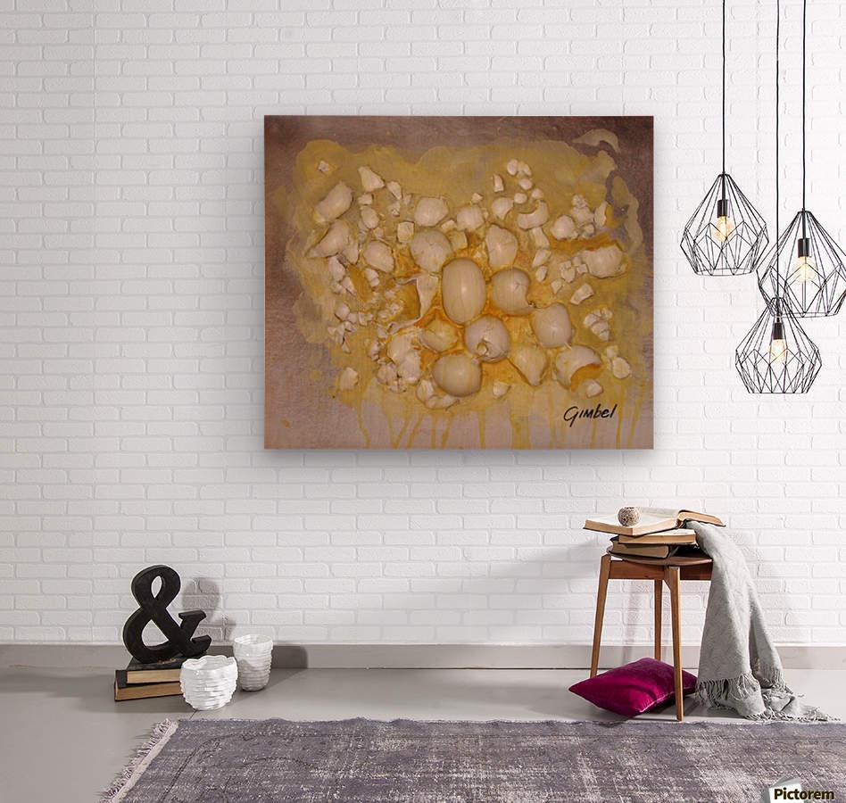scrambled eggs  Wood print