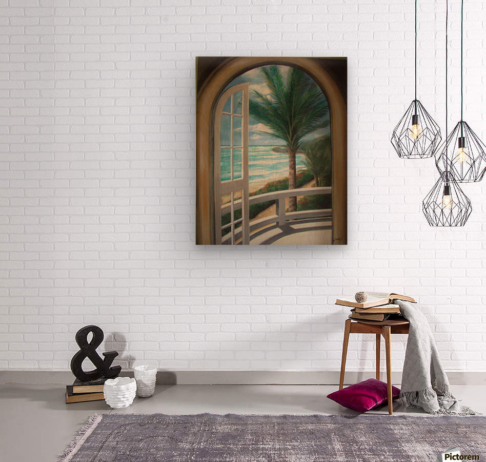 Balcony  Wood print