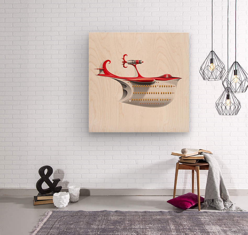 Avione Pelikanum Solo  Wood print