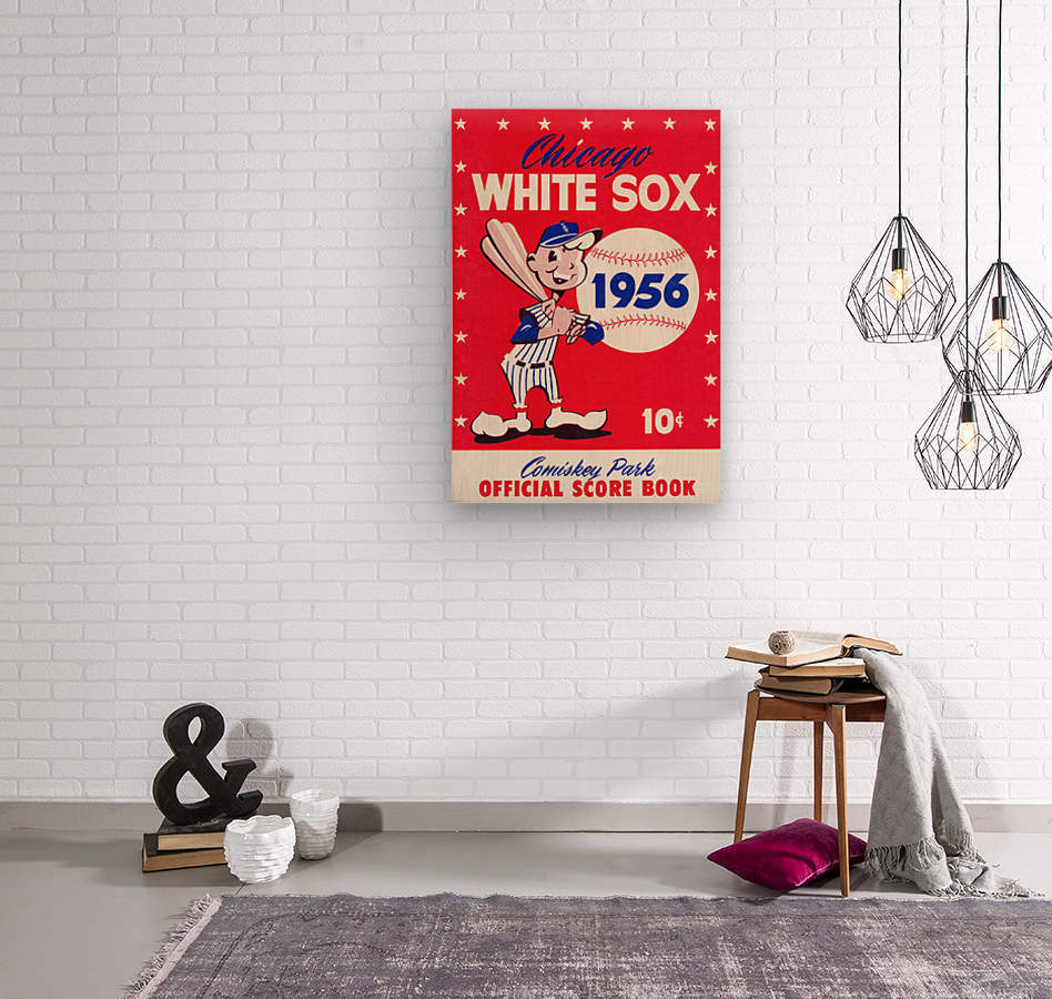 1956 chicago white sox score book canvas  Wood print