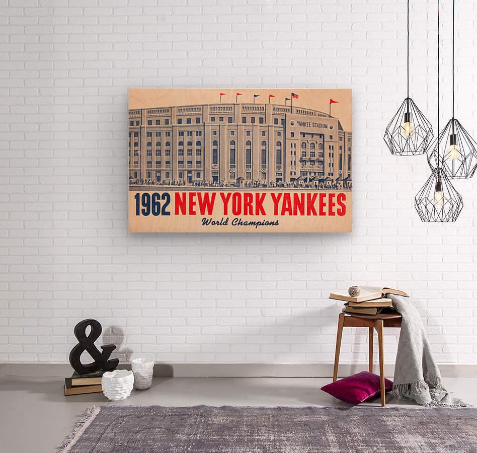 1962 new york yankees world champions  Wood print