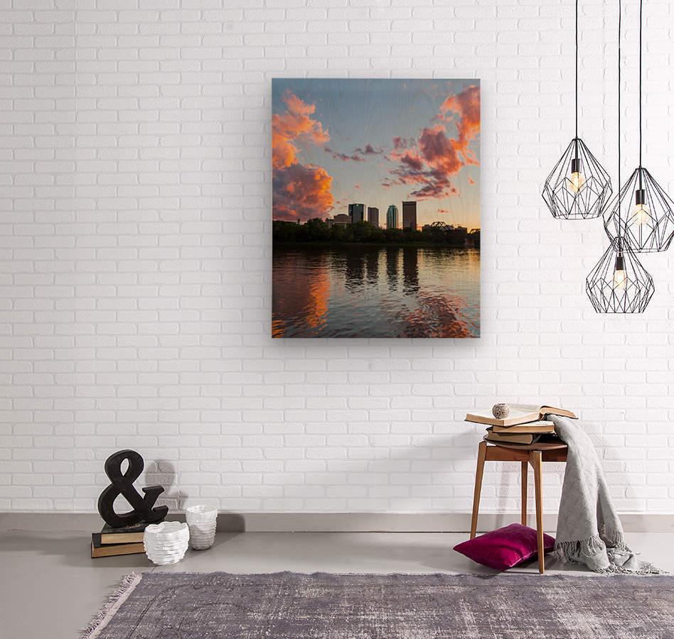 Winnipeg Sunset  Wood print