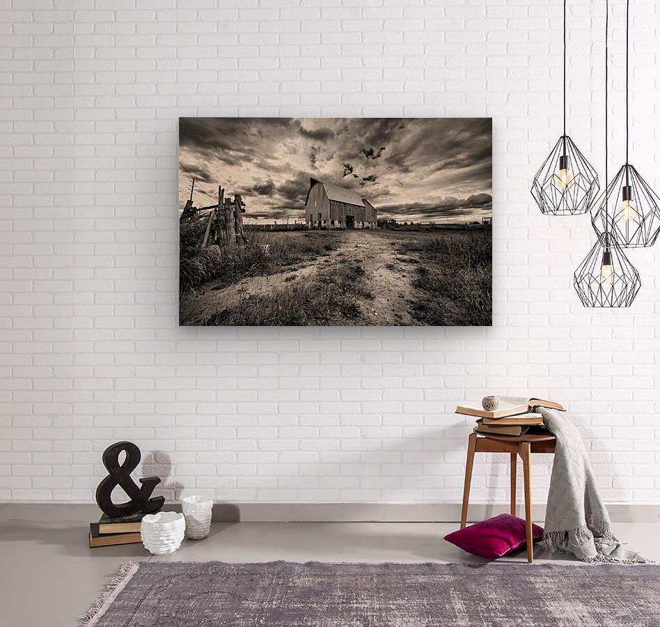 The Barnyard  Wood print