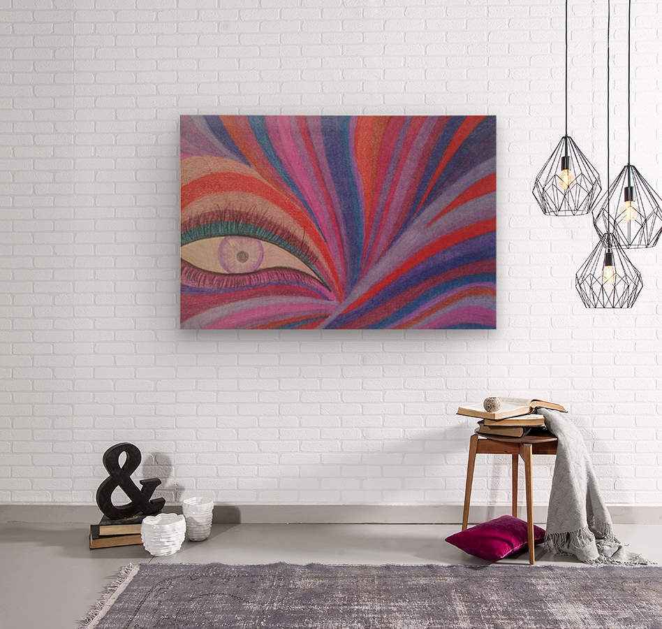Fairy Eye  Wood print