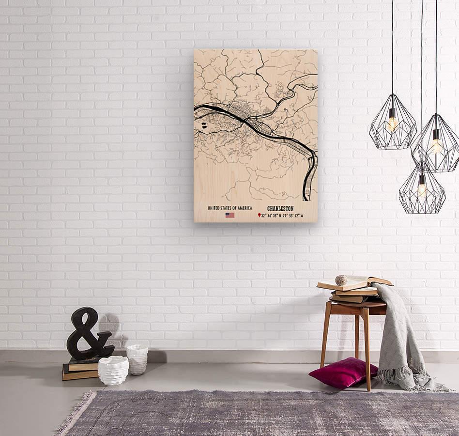 Charleston USA  Wood print