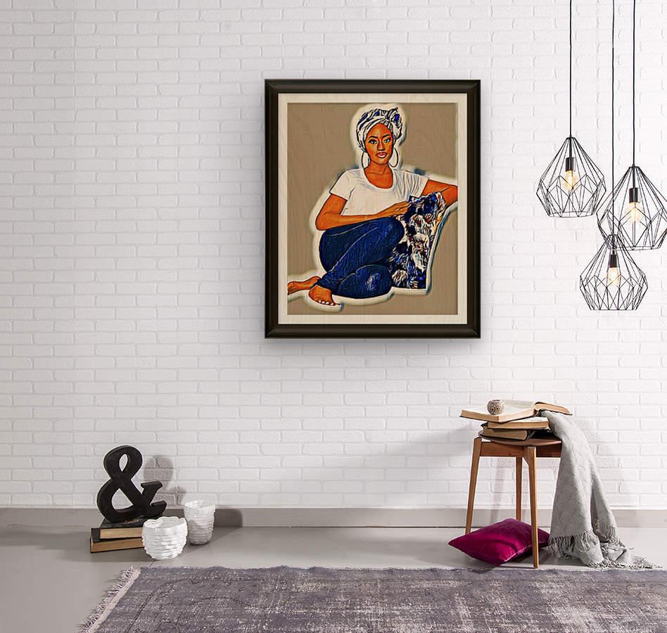 Modest  Wood print
