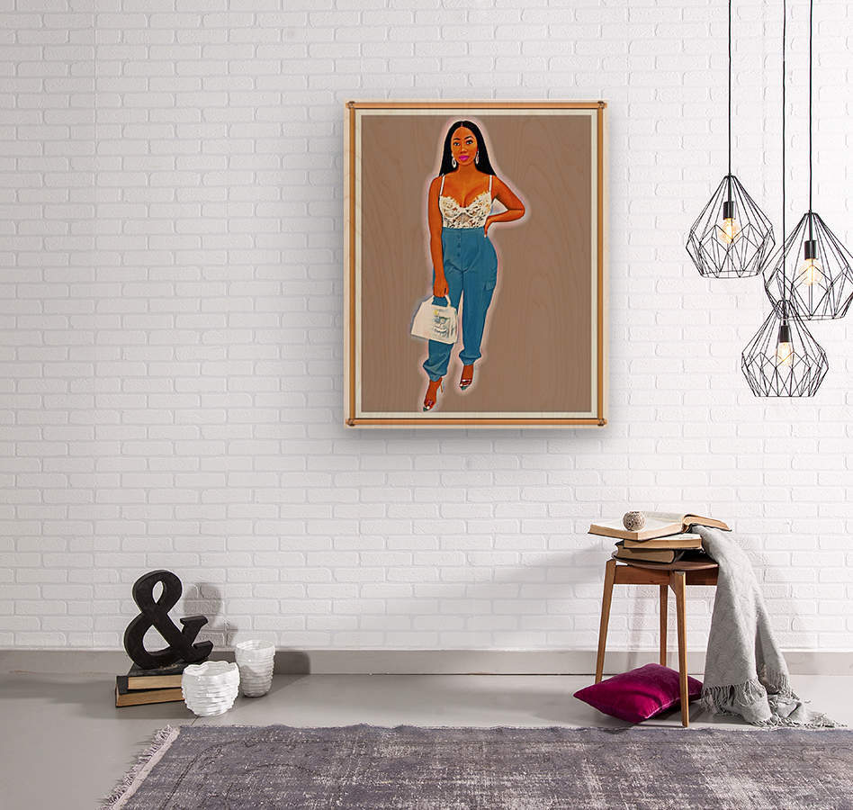 Shawty  Wood print