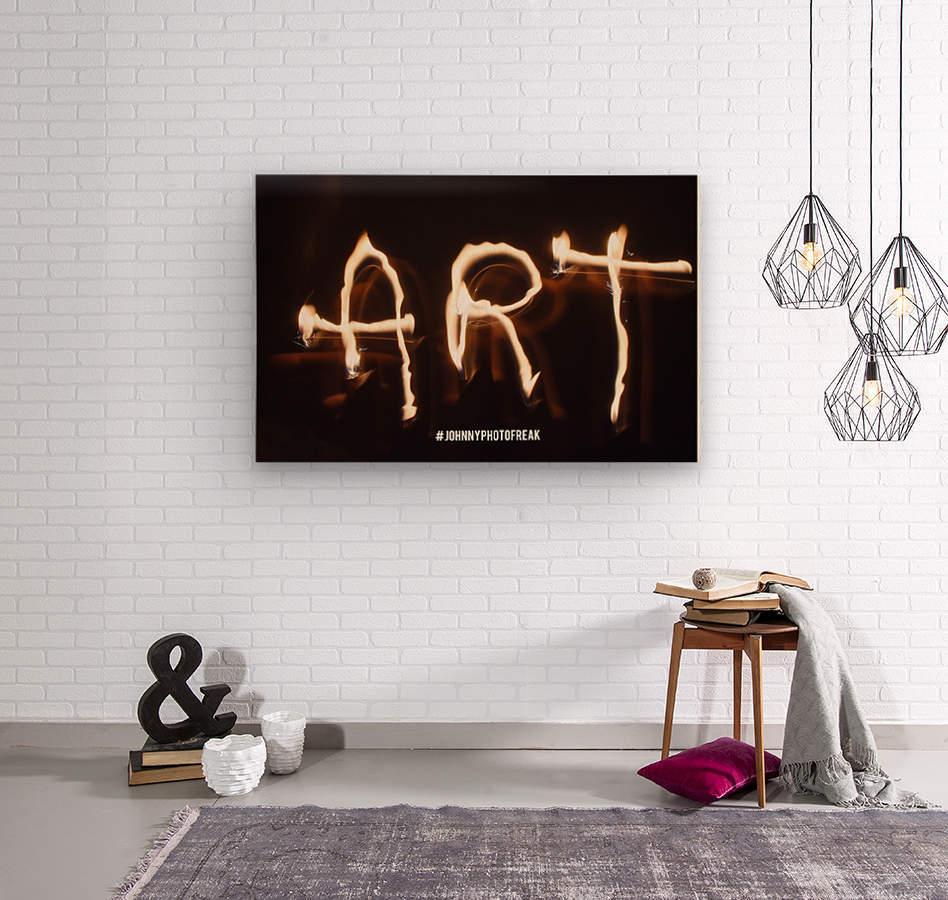 Fire Art  Wood print