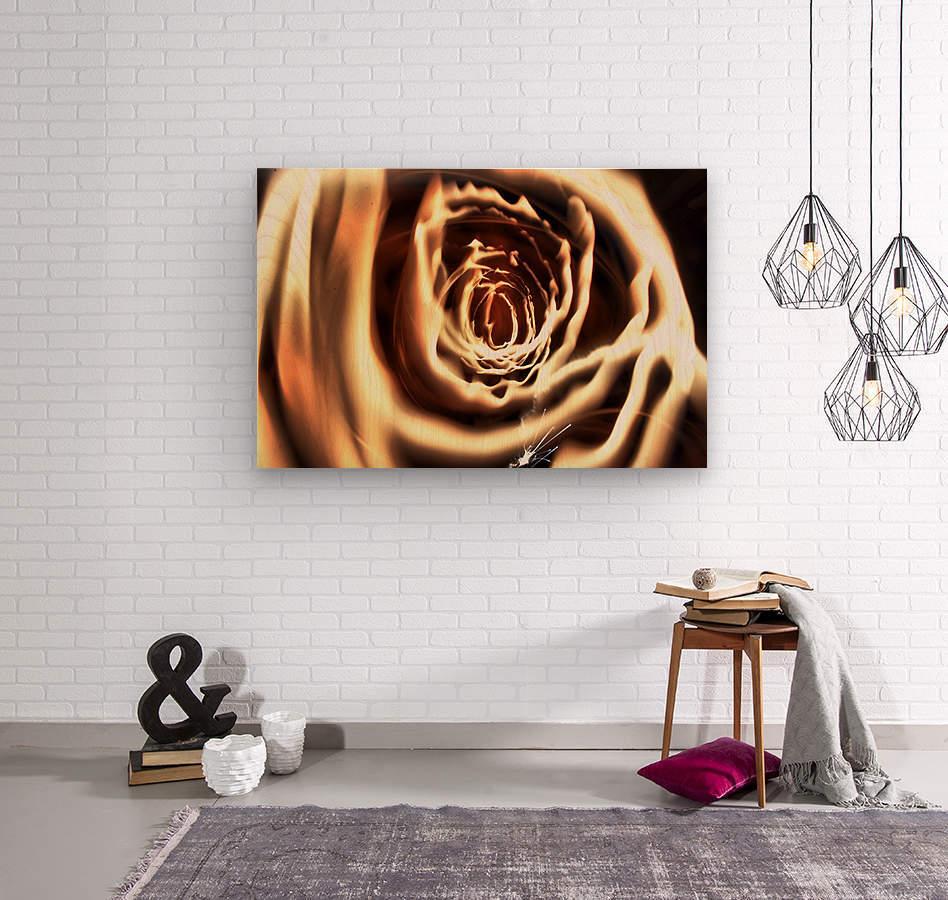 Fire tunnel  Wood print