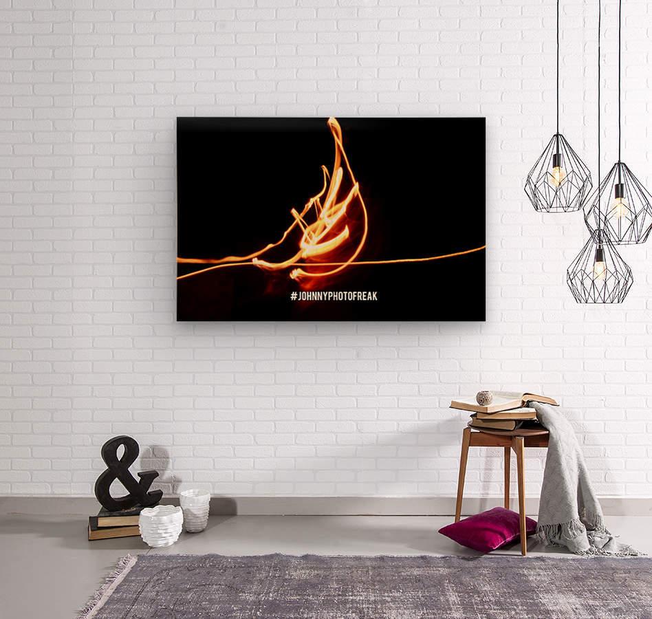 Fire leaf  Wood print