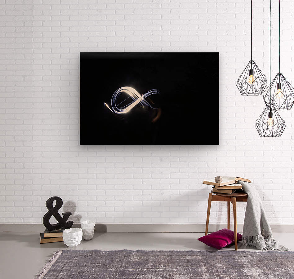 Abstract infinity   Wood print
