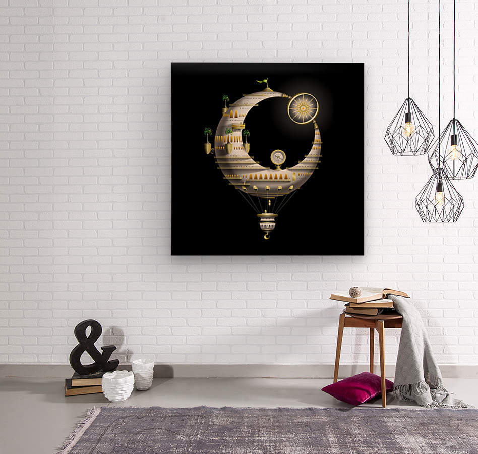 Marcelluna Balloone  Wood print