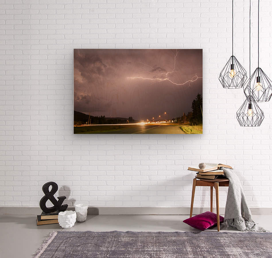 Lightning Catch   Wood print