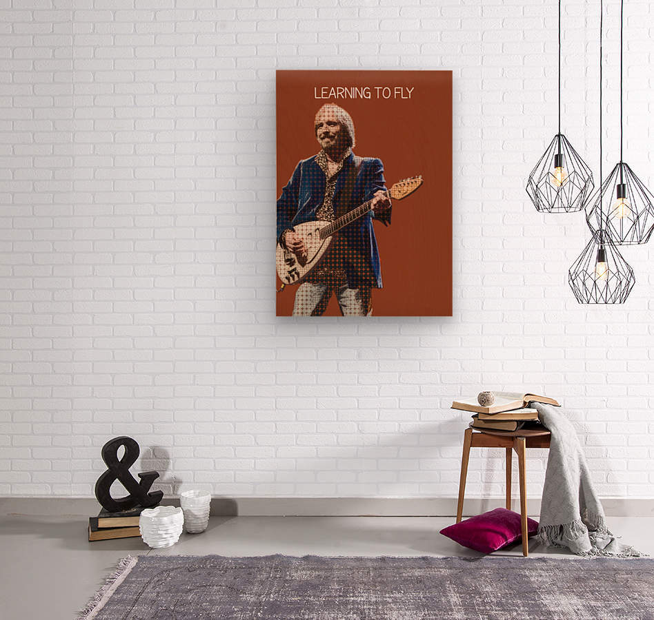 Learning To Fly   Tom Petty & the Heartbreakers  Wood print