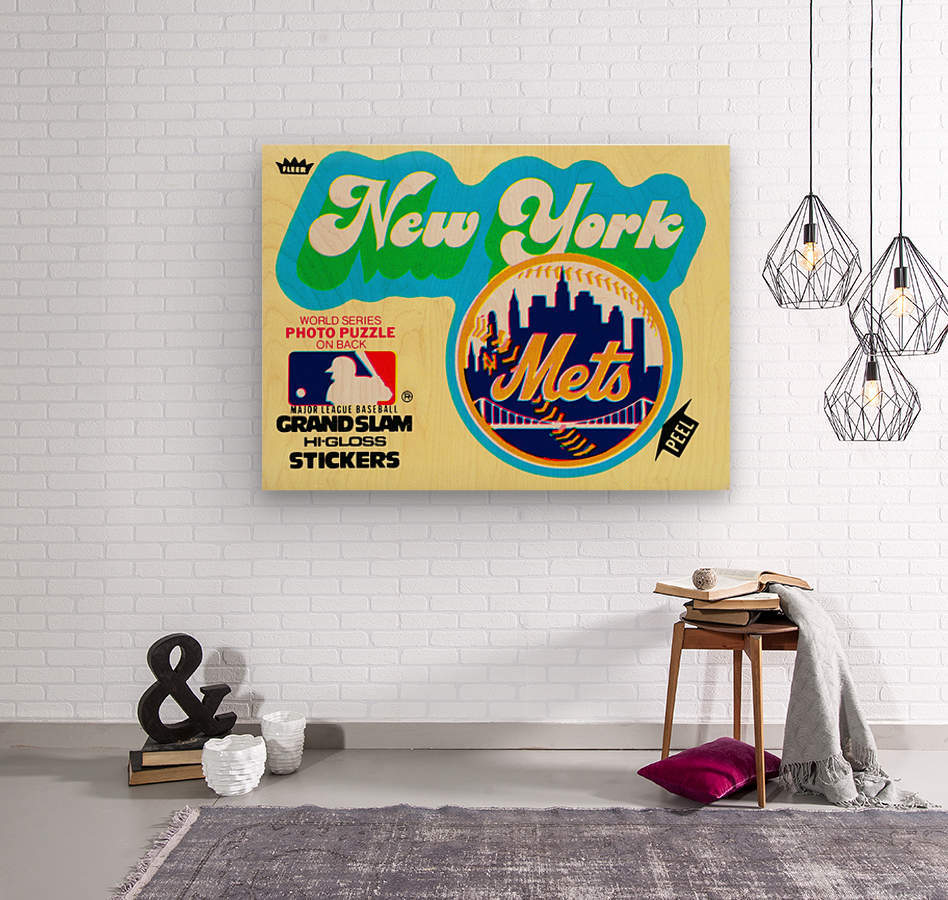 1979 fleer hi gloss sticker new york mets wall art  Wood print