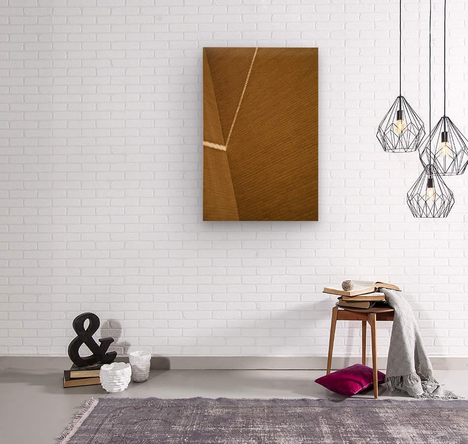 Bending Light on Brick  Wood print