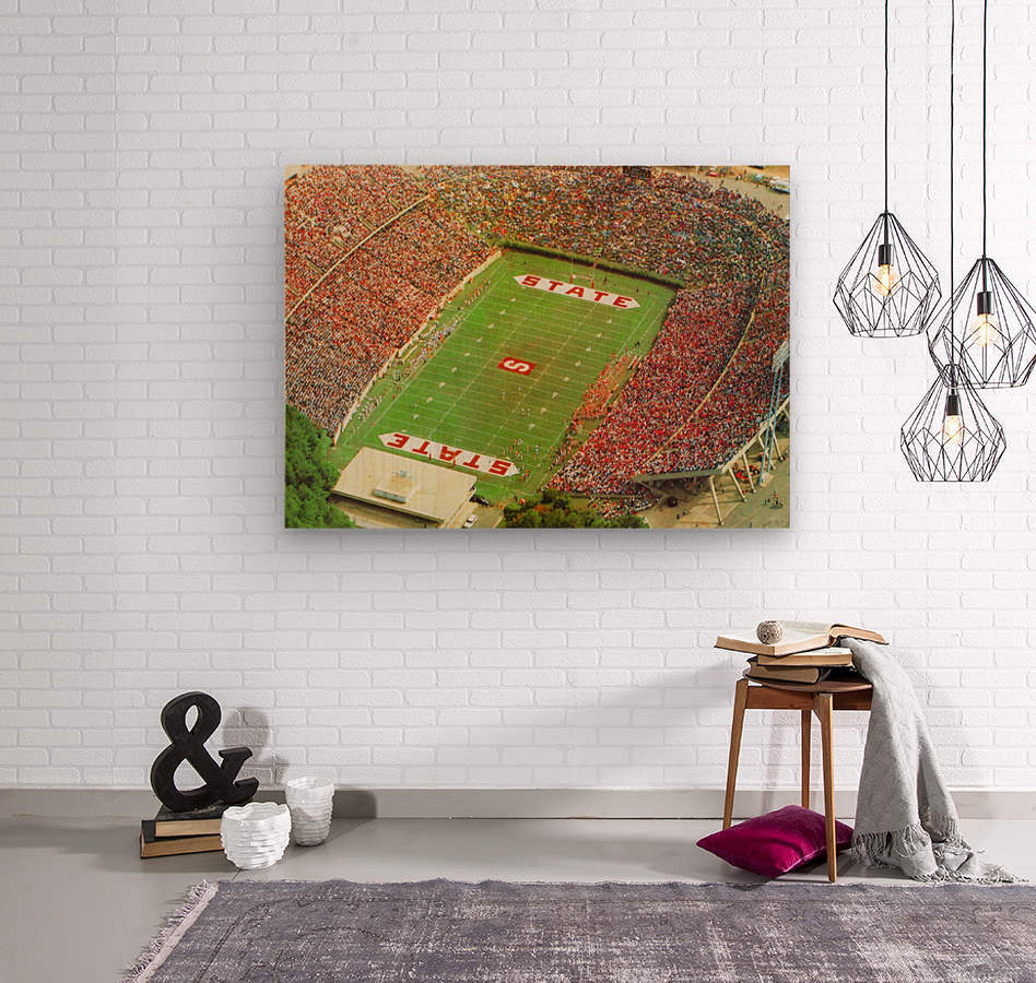 1985 nc state wolfpack carter finley stadium raleigh north carolina college football aerial photo  Wood print