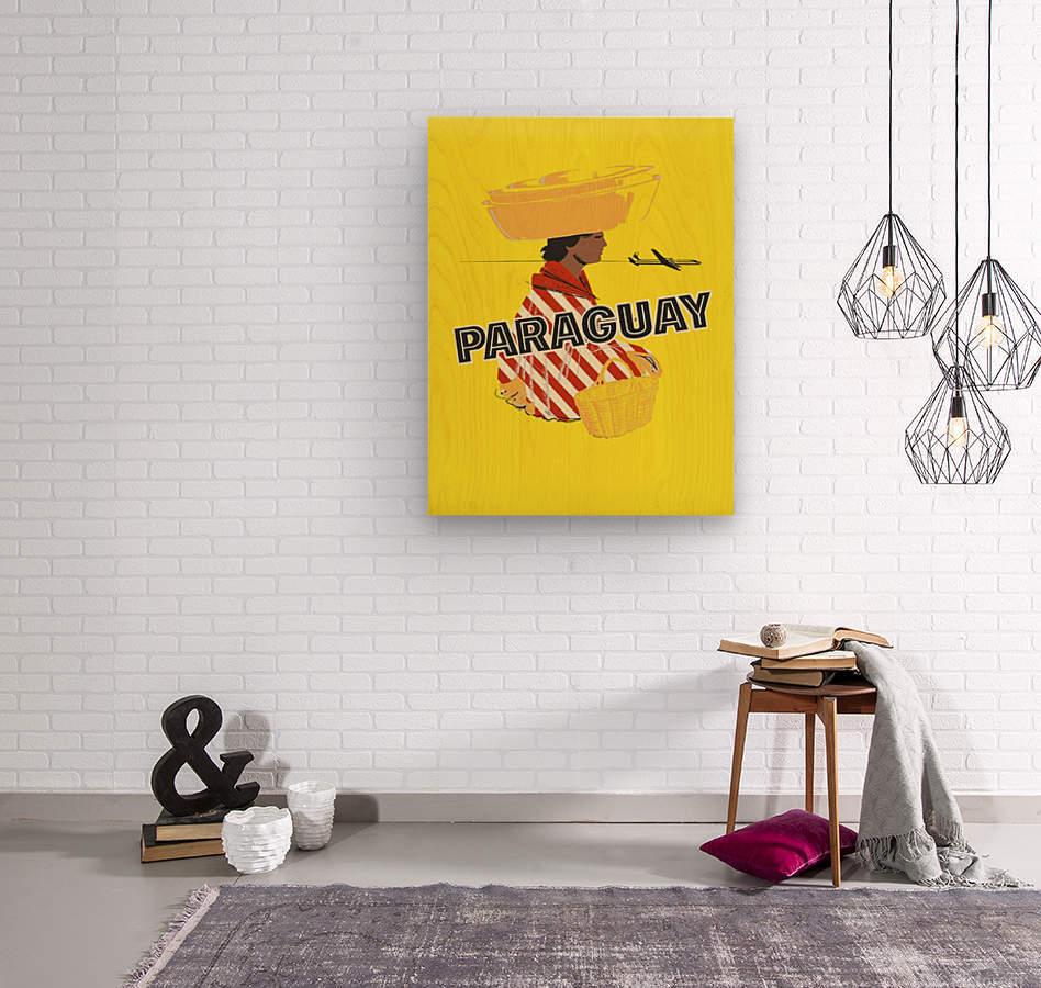 Paraguay  Wood print