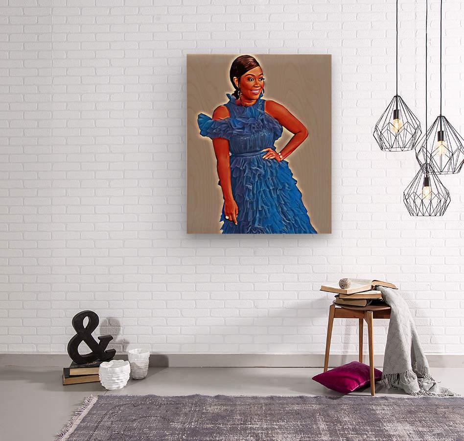 Sapphire  Impression sur bois