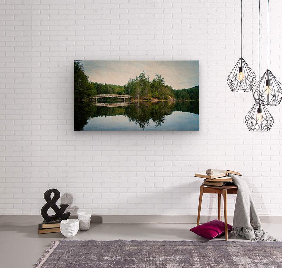 Beautiful Arch Bridge  Wood print