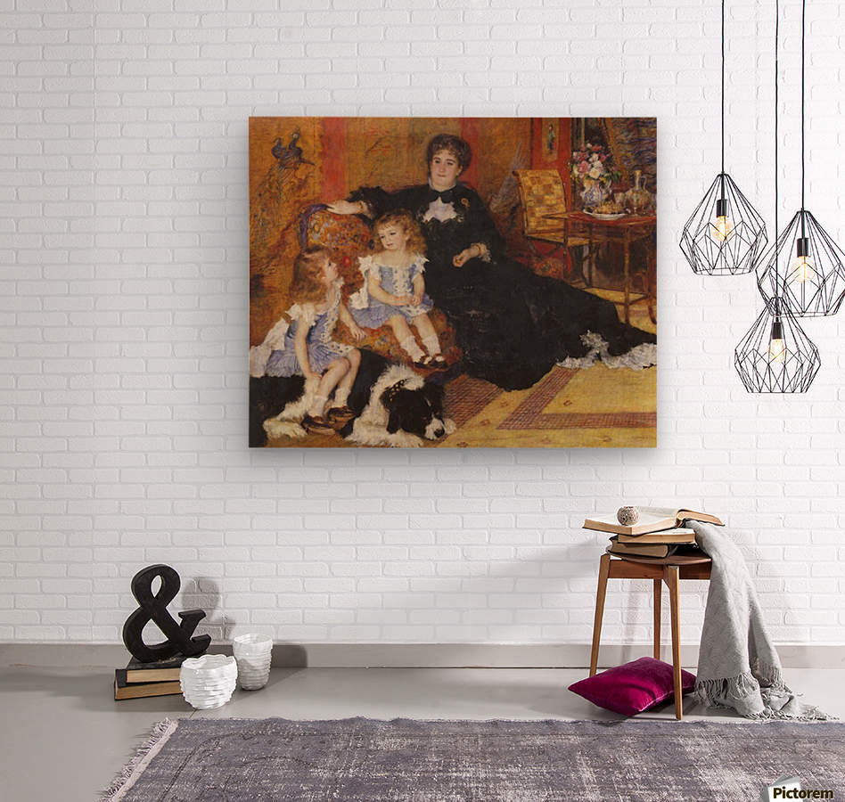 Madame Charpentier and her children  Wood print