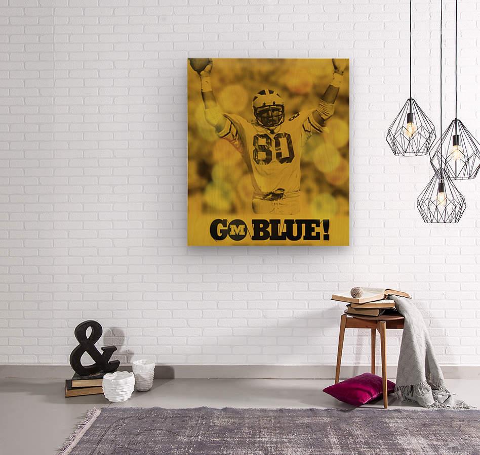1979 michigan football go blue  Wood print