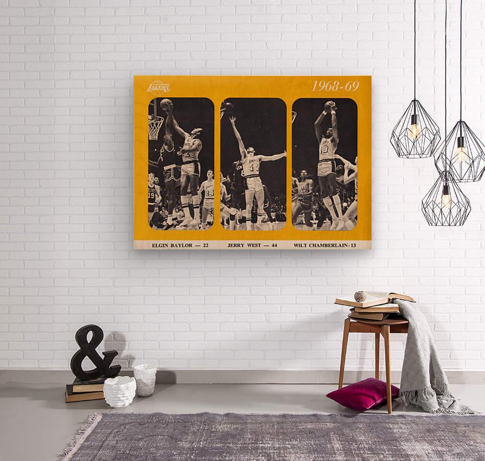 1968 los angeles lakers poster  Wood print