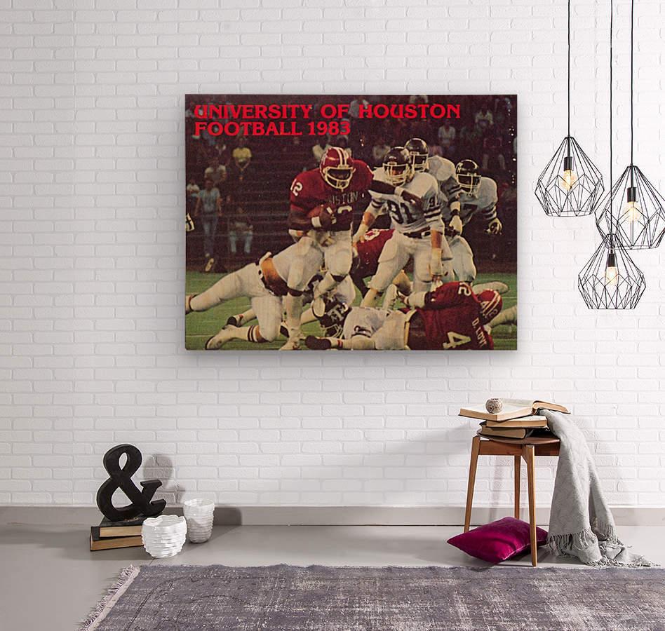 1983 houston cougars football  Wood print