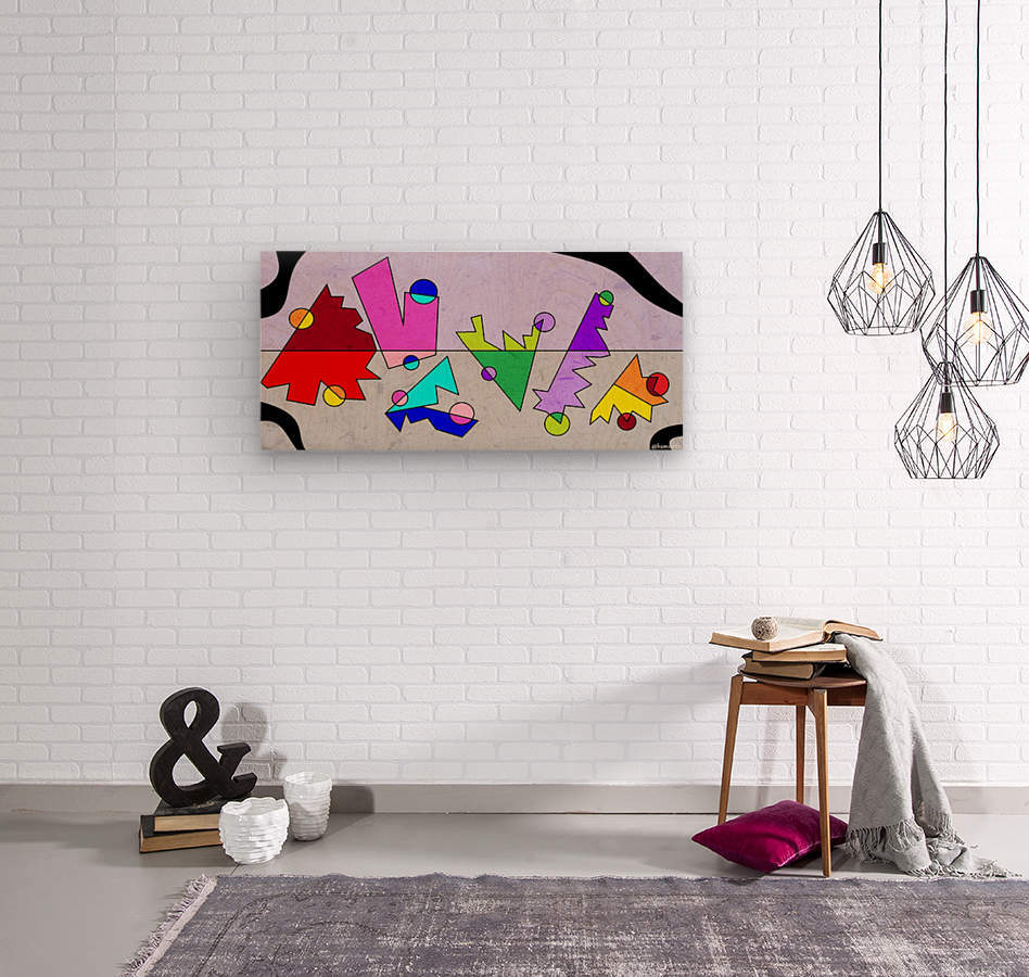 Simple Shapes VI  Wood print