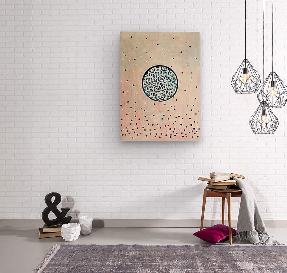 Art deco flower bloom  Wood print