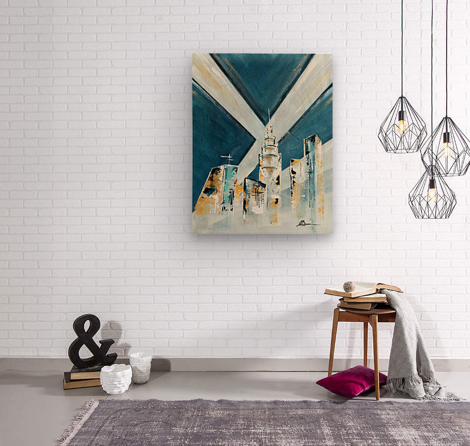 Metropolis III  Wood print