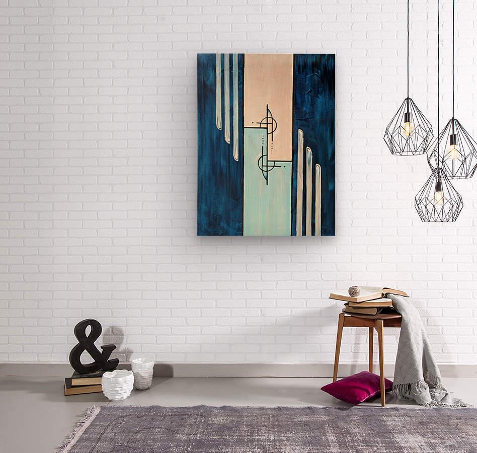 Moonshine XIV  Wood print