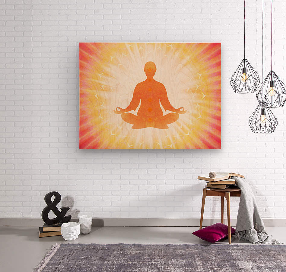 In Meditation - Be The Light  Wood print