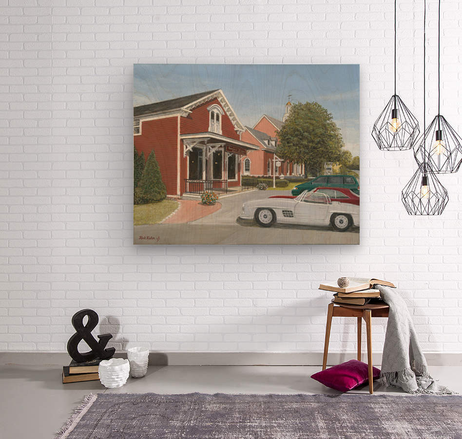 Town Hall and Store - Newtown Series 16X20   Wood print