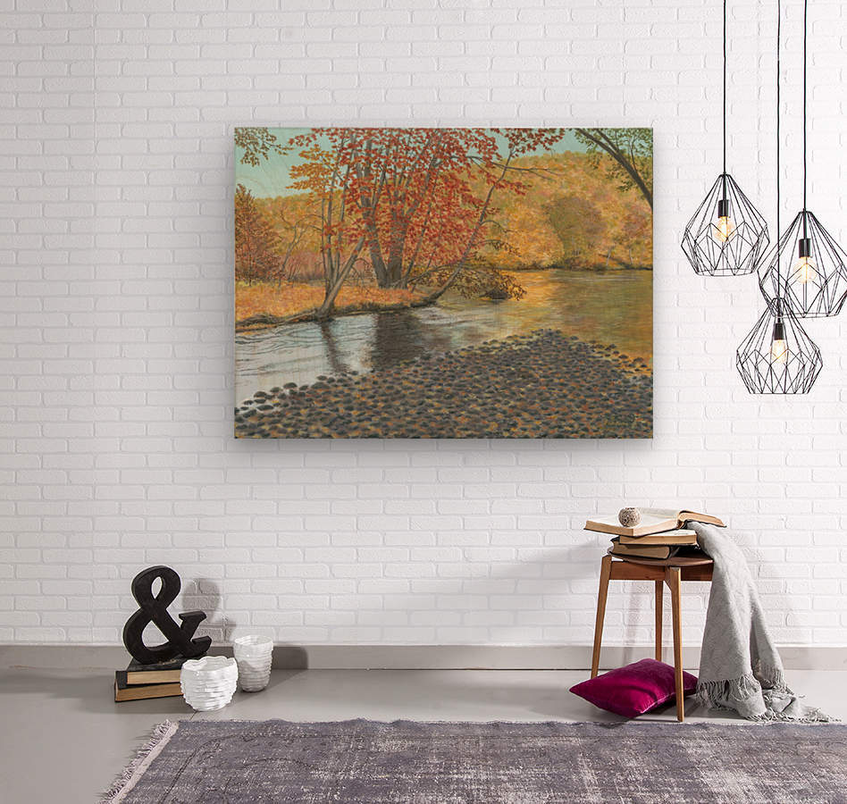 Two Rivers - Newtown Series 18X24  Wood print