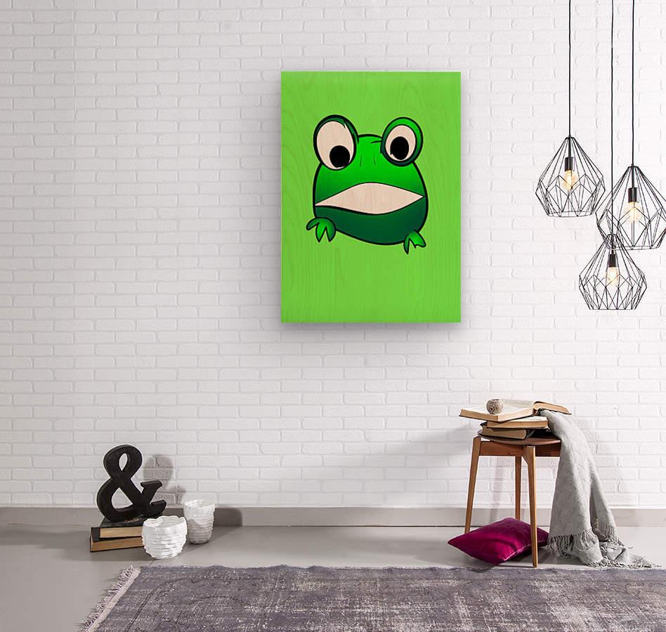 cute little frog  Wood print