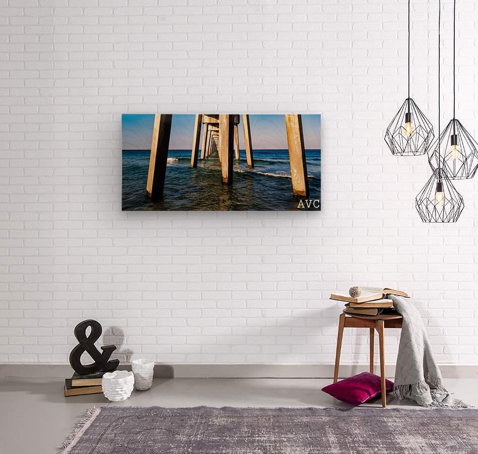 Good Morning Pier  Wood print