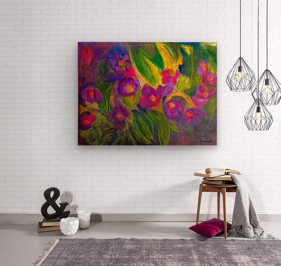 Purple Favorites  Wood print
