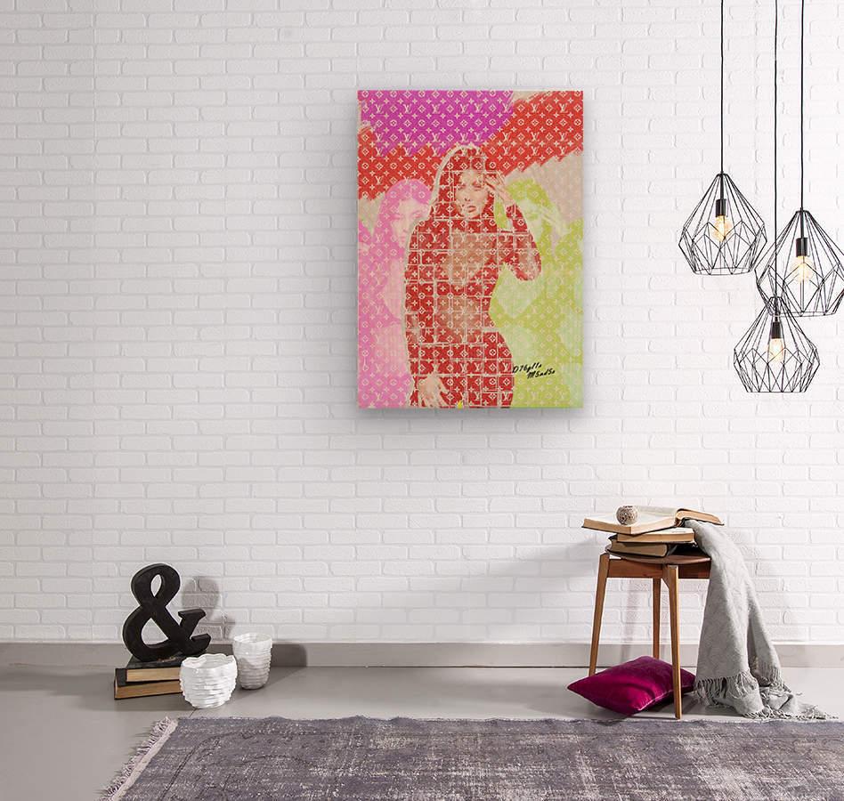 Celebrity K  Wood print