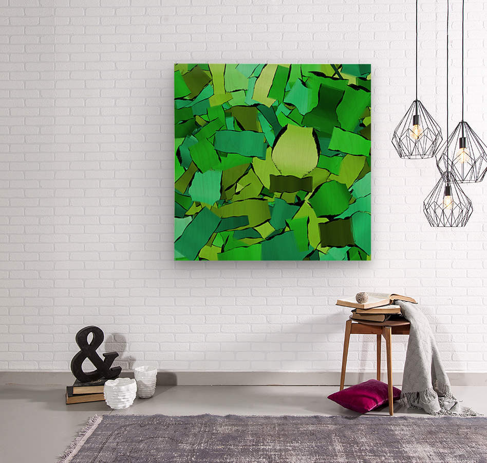 abstract flow art  Wood print
