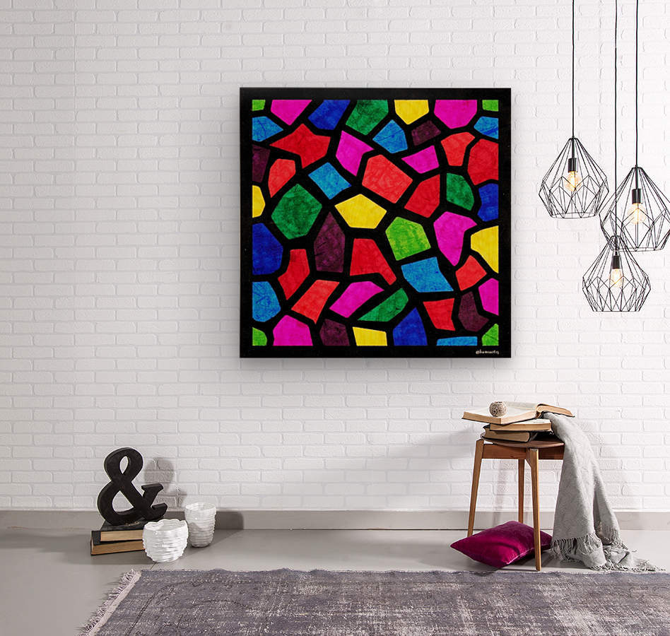 Stained Glass I  Wood print