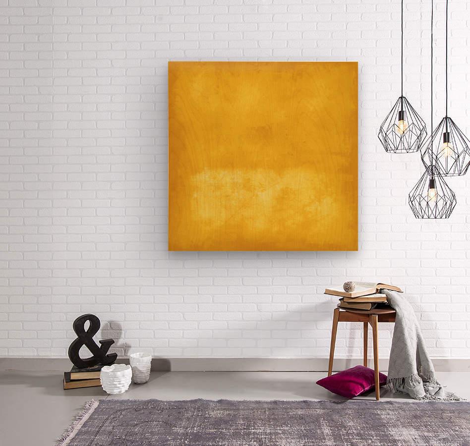 Yellow 44  Wood print