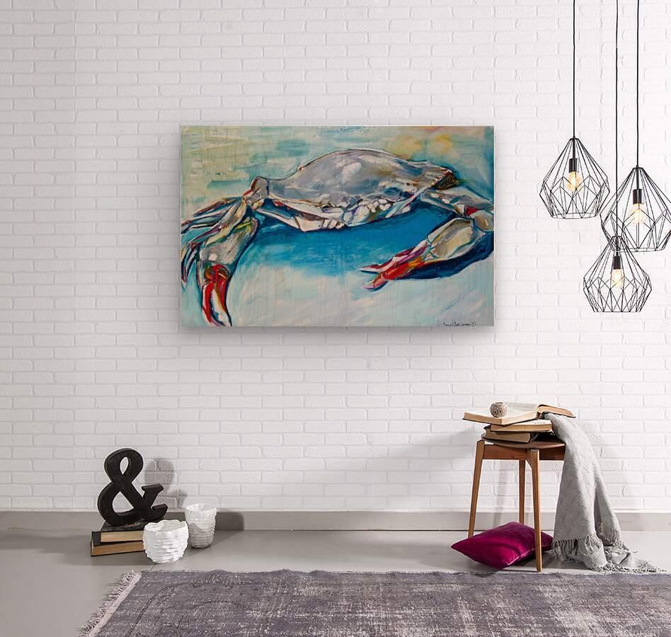 Louisiana She Soft Shell Crab  Wood print