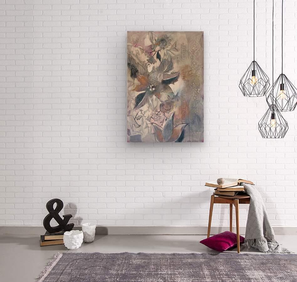 Riverton Wallpaper Panel I  Wood print