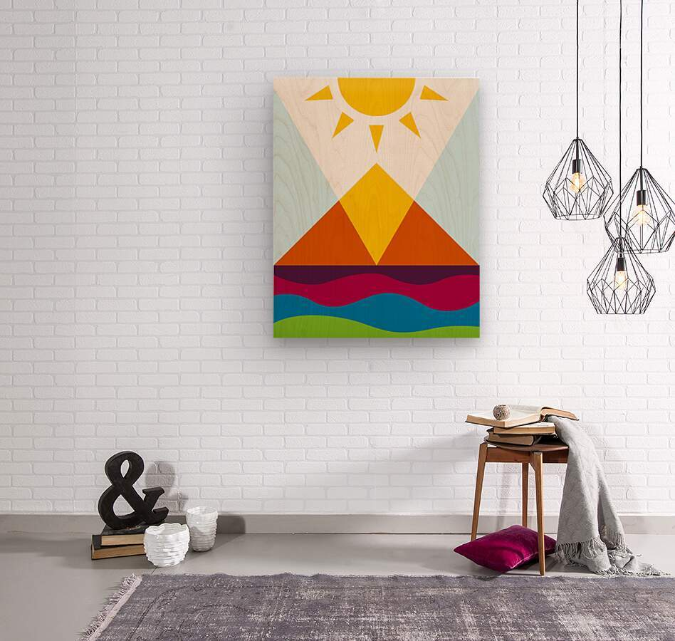 The Pyramid  Wood print