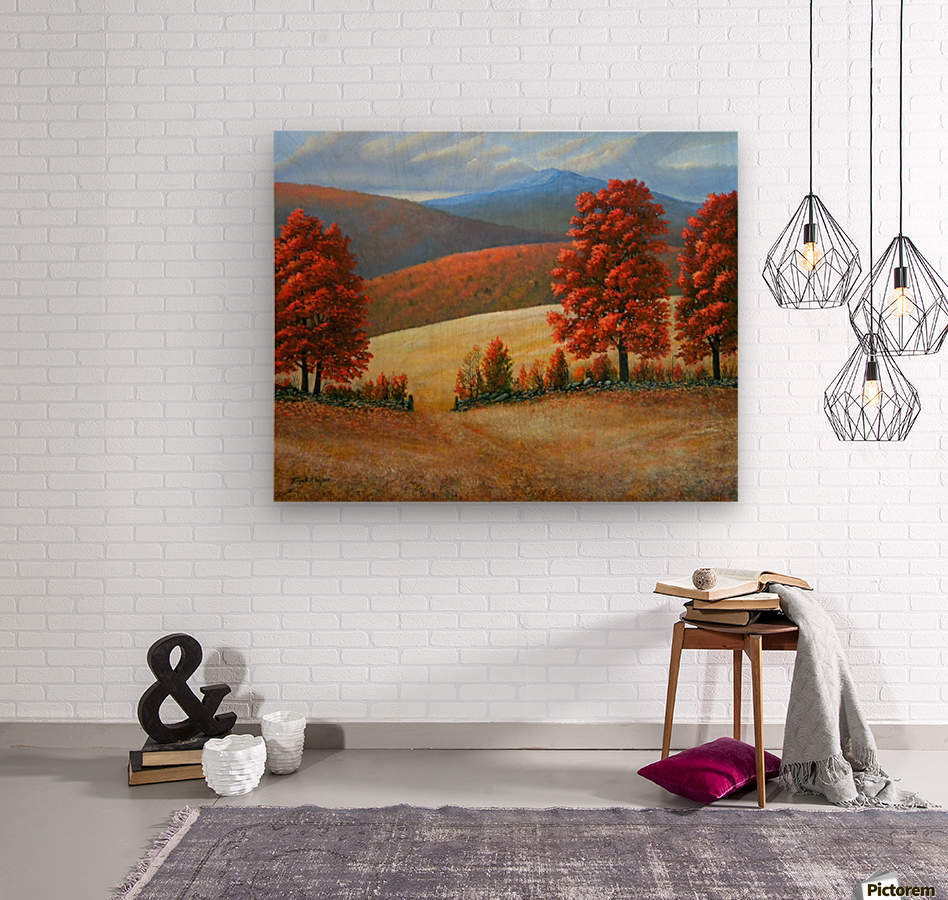 Autumns Glory  Wood print